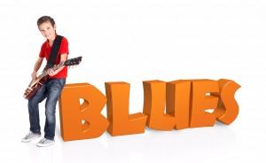 Playing blues guitar